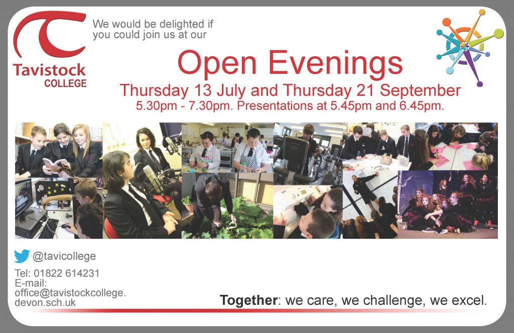 Tavistock College Open Evening 2017